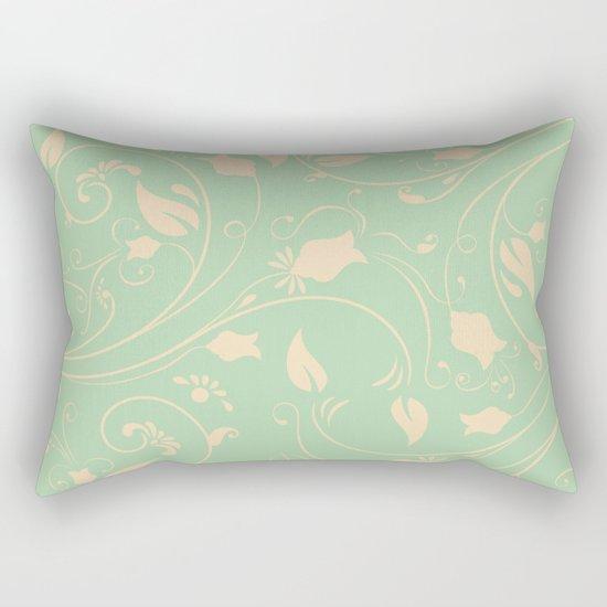 Vintage victorian flower pattern Rectangular Pillow