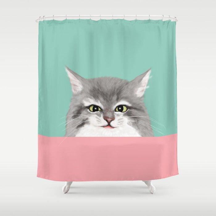 Cheeky Kitty Shower Curtain