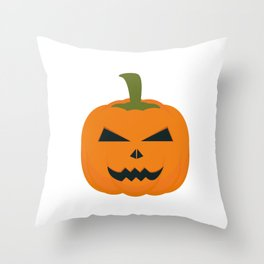 Evil Halloween pumpkin Throw Pillow