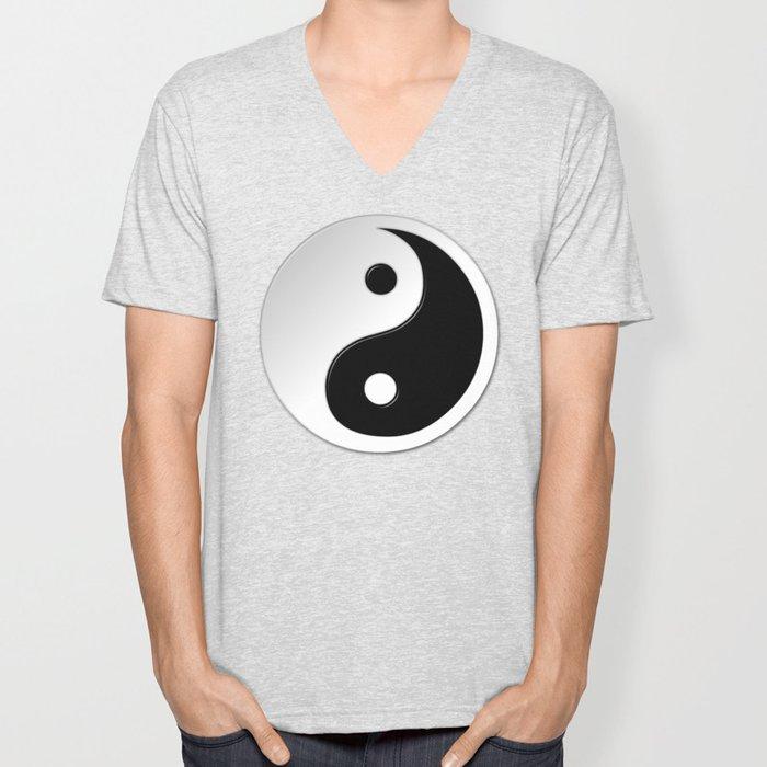 Yin Yang Symbol Unisex V-Neck