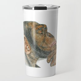 Chimp Deep in Thought Travel Mug