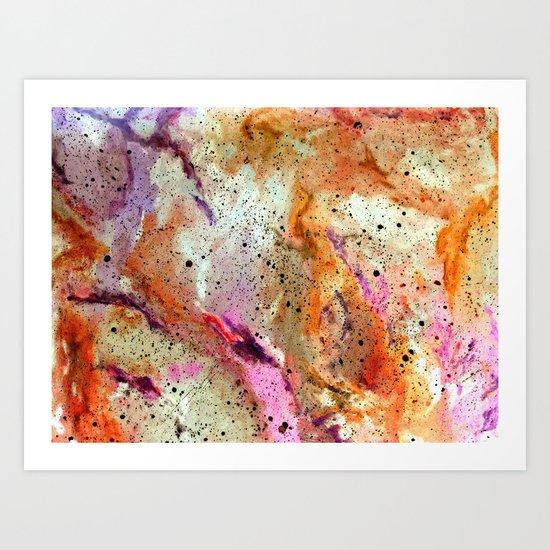 Galaxy (inverted) Art Print