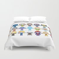 magneto Duvet Covers featuring 90's 'X-men' Robotics by We Are Robotic