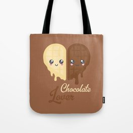 Chocolate Heart Tote Bag