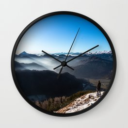 Looking over new horizons Wall Clock