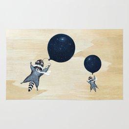 Raccoon Balloon Rug