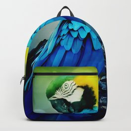 Macaw on branch Backpack