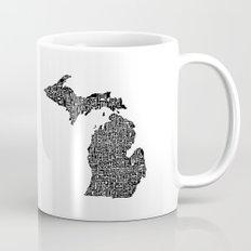 Typographic Michigan Mug