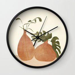 Two Living Vases Wall Clock