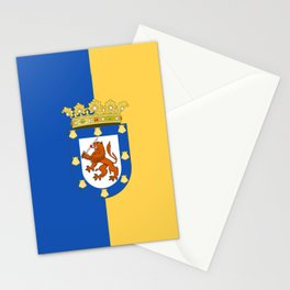 flag of santiago de Chile Stationery Cards