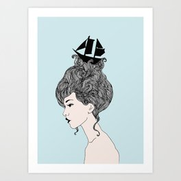 Sinking Thoughts Art Print