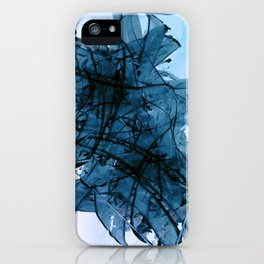 Brushing in Blue iPhone Case