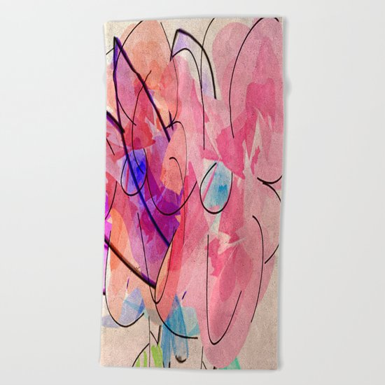 little digital bouquet Beach Towel