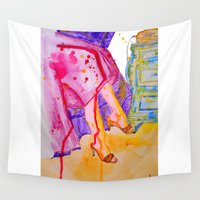 amelie Wall Tapestries featuring Amelie by Laurie Art Gallery