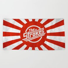 The Strokes Logo Welcome To Japan Beach Towel