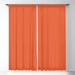 Burnt Orange Solid Blackout Curtain