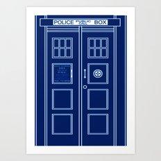 TARDIS Front Door - Doctor Who Art Print