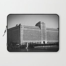 Black and White Merchandise Mart Chicago Photography Laptop Sleeve