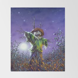 The Scarecrow Walks at Midnight Throw Blanket