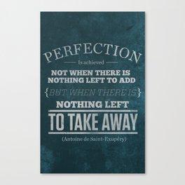 Perfection Canvas Print