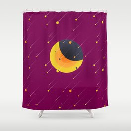 021 OWLY meteor shower Shower Curtain