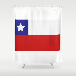 Chile flag Shower Curtain