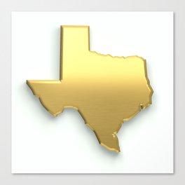 Golden Texas Map Canvas Print