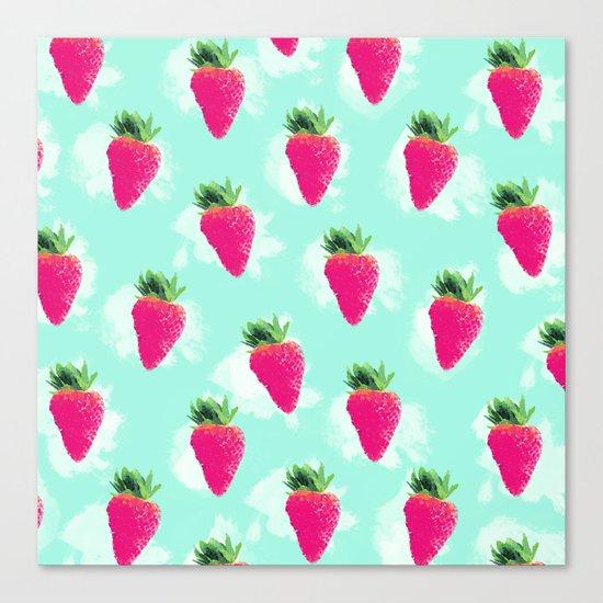 Watercolor Strawberry Canvas Print