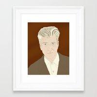 lynch Framed Art Prints featuring LYNCH by Itxaso Beistegui Illustrations