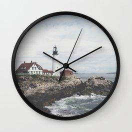 Portland Lighthouse 2 Wall Clock