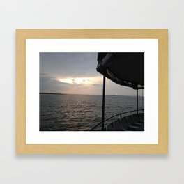Ferry From the Fort Framed Art Print