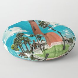 Ponce de Leon Misquito Inlet Tallest Lighthouse in Florida Floor Pillow