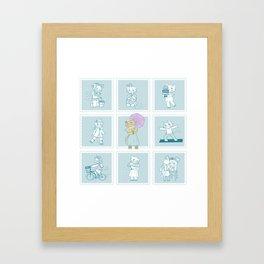 Bibi The Cat Framed Art Print