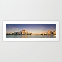 Singapore's Skyline at Sunrise Art Print