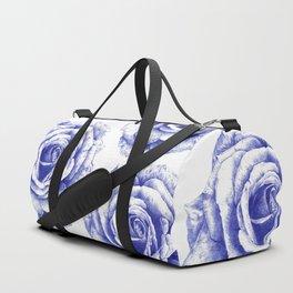 Ballpoint Blue Rose Duffle Bag