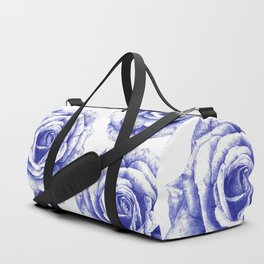 Ballpoint Blue Rose Duffle Bag