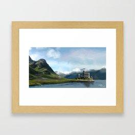 Scotland Castle Landscape Framed Art Print