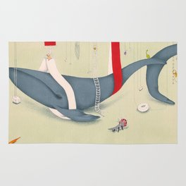 A whale has landed Rug