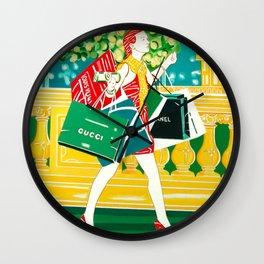 """So god created shopping"" Wall Clock"