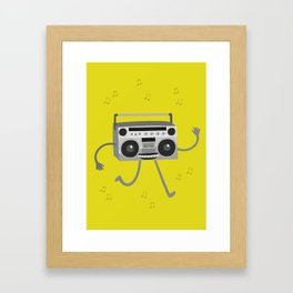 RADIO CASSETTE Framed Art Print