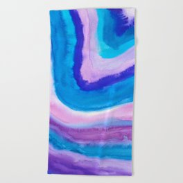 AGATE Inspired Watercolor Abstract 11 Beach Towel