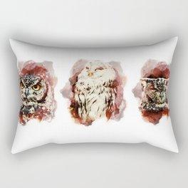 3 owl red Rectangular Pillow