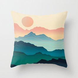Wanderlust Gradient Mountain Throw Pillow