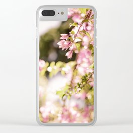 Dream in Pink Bougainvilleas Clear iPhone Case