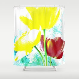 Abstract Of Spring Shower Curtain
