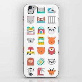 CUTE ZOO ANIMALS PATTERN iPhone Skin