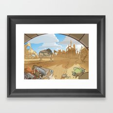 On the Road 3: City limits Framed Art Print