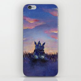 Snuggle Bunnies at Sunset iPhone Skin