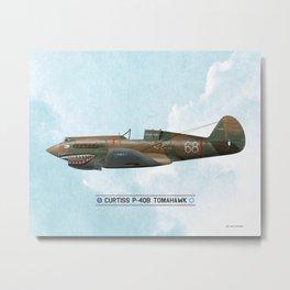 P-40 Tomahawk - WW2 Metal Print