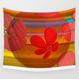 RED FLOWER IN POMP Wall Tapestry